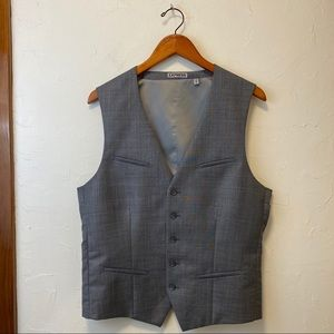 EUC EXPRESS Gray Performance Wool-blend Vest